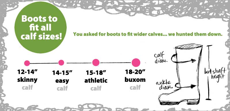 From Skinny to Buxom... We've got your calves covered!