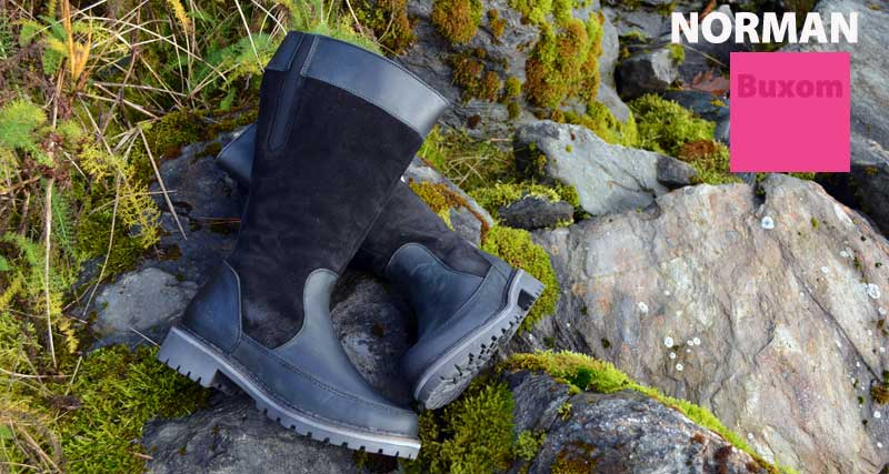 A boot specifically cut for BUXOM calves at Shoefly Alaska!