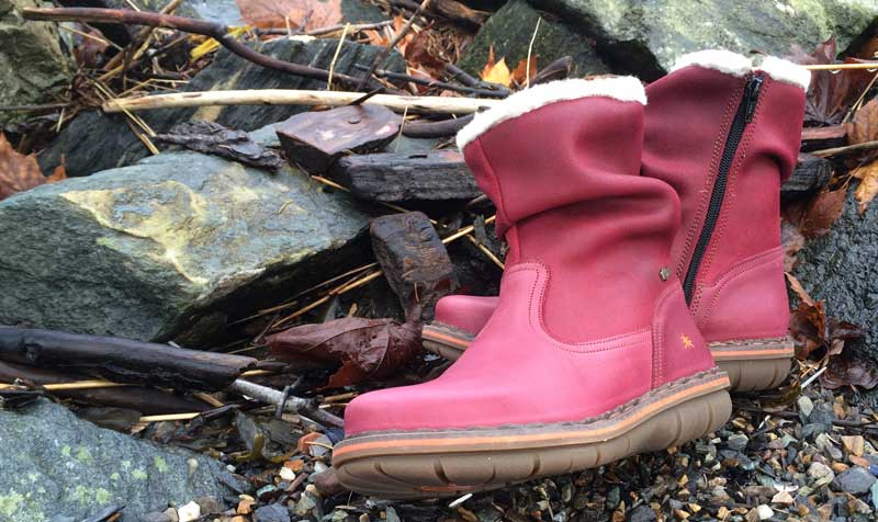 Color dreary winter days with these lovely insulated boots from Spain at Shoefly Alaska