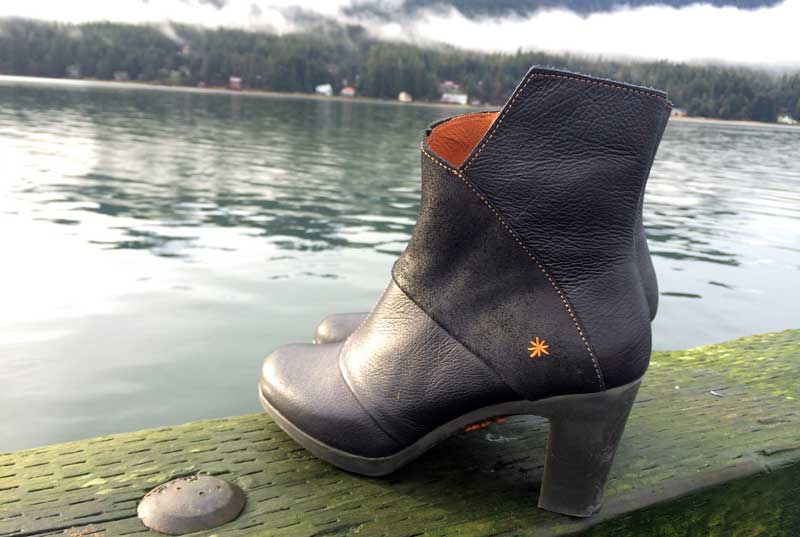 Gorgeous, rugged heel from Spain at Shoefly Alaska!