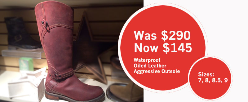 Waterproof boots on sale at Shoefly Alaska