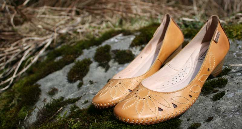 Darling flats with italian leather at Shoefly Alaska