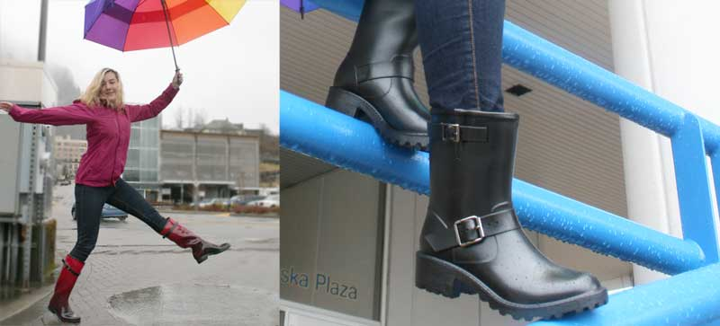 Biggest collection of rainboots in Alaska at Shoefly Alaska!
