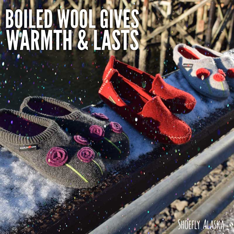 Boiled wool slippers for women give warmth and last for many happy holiday seasons!